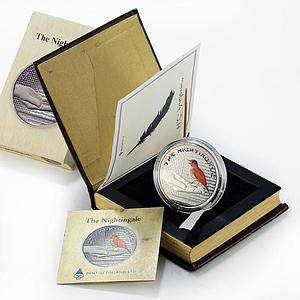 Fiji 1 dollar Andersen tales The Nightingale colored silver coin 2010