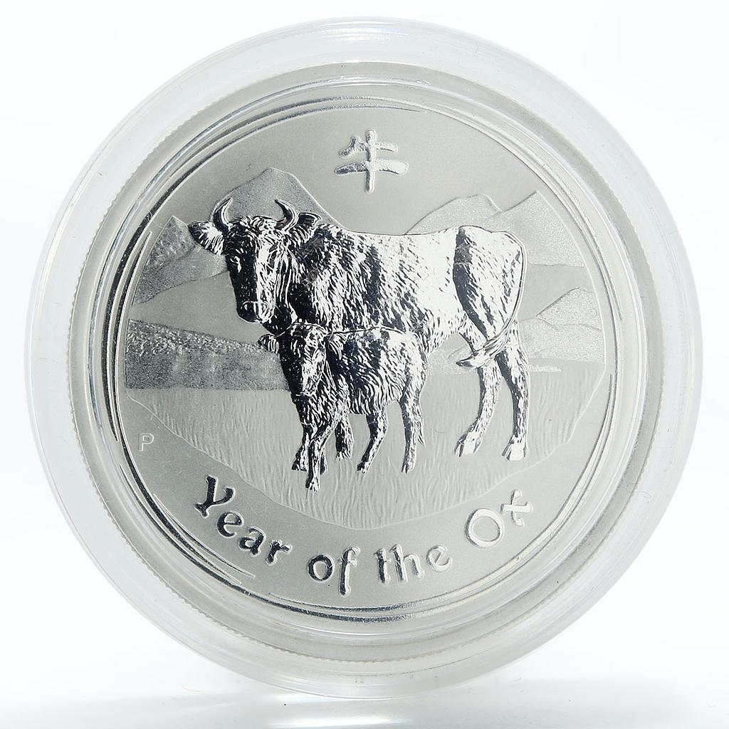 Australia 50 cents Year of the Ox Lunar Series II 1/2 oz Silver Coin 2009