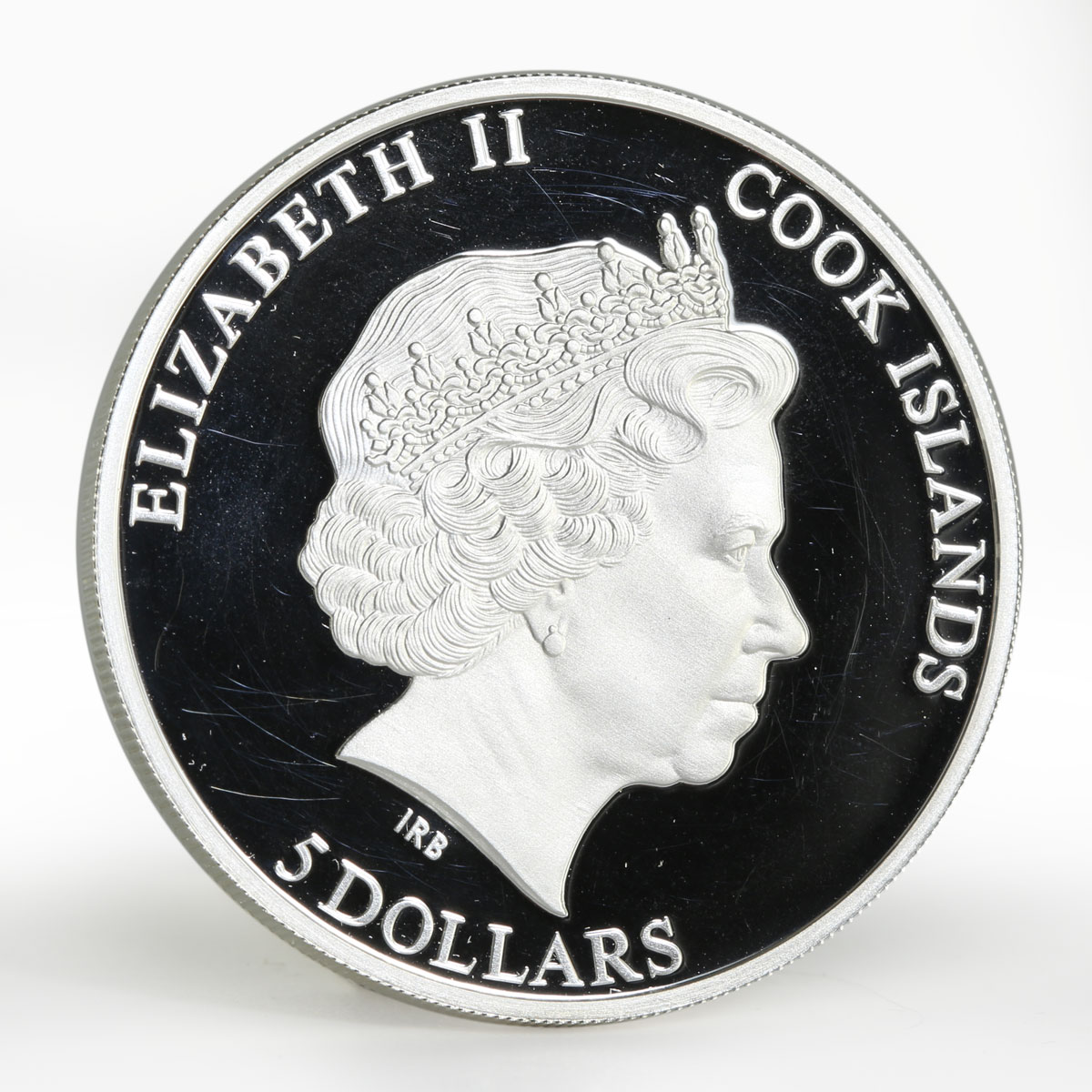 Cook Islands 5 dollars Khokhloma Painting colored proof silver coin 2011