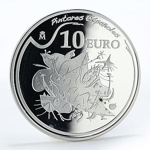 Spain 10 euro Joan Miro painters morning star proof silver coin 2012
