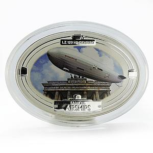 Fiji 2 dollars Famous Airship of LZ 129 Hindenburg silver coin 2009