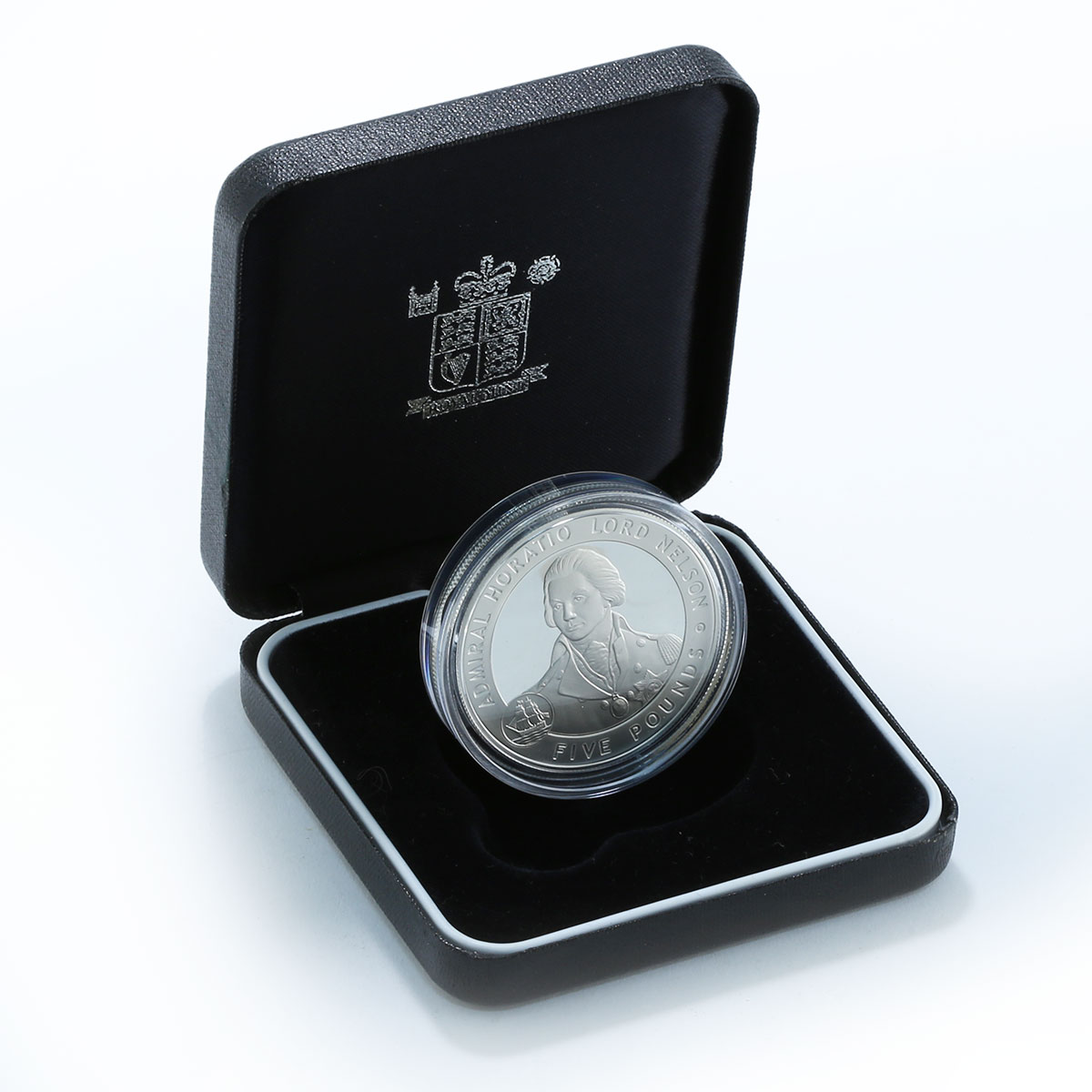Bailiwick of Guernsey 5 pounds Admiral Horatio Nelson silver proof coin 2006