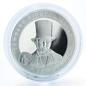 Bailiwick of Guernsey 5 pounds Isambard Kingdom Brunel silver proof coin 2006