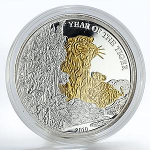 Togo 1000 francs Lunar Year of the Tiger proof silver coin 2010