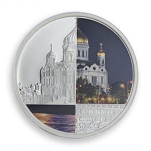 Tuvalu 1 dollar Cathedral of Christ the Saviour colored silver coin 2012