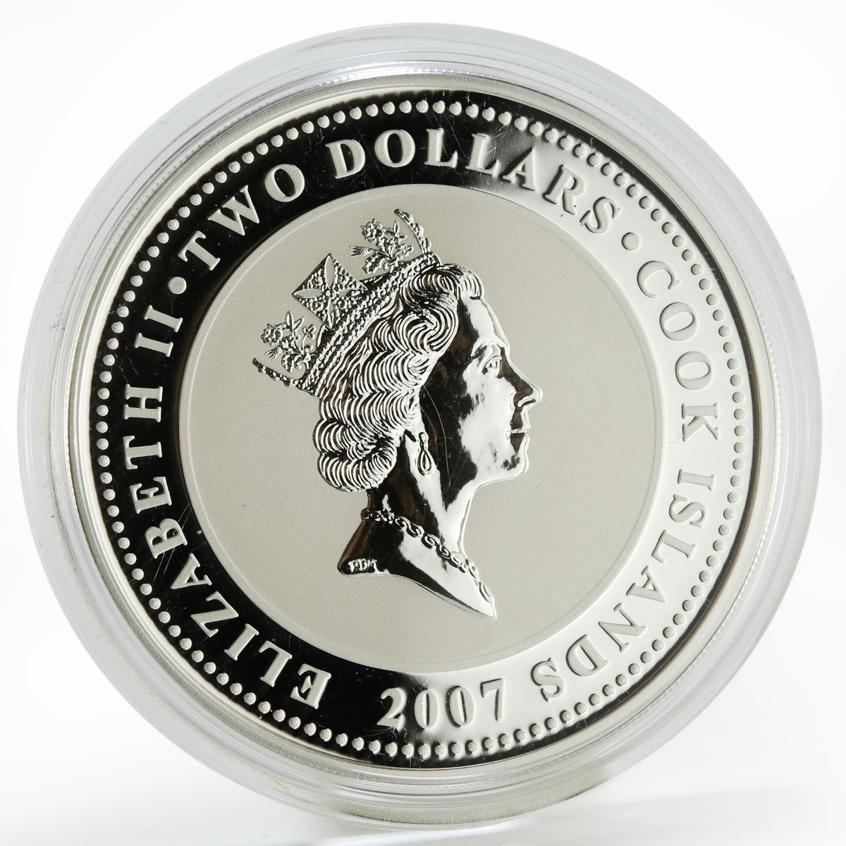 Cook Islands 2 dollars Adventures of Sherlock Holmes colored silver coin 2007