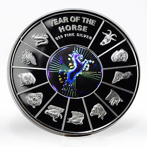 Vietnam 10000 dong Year of the Horse hologram proof silver coin 2002