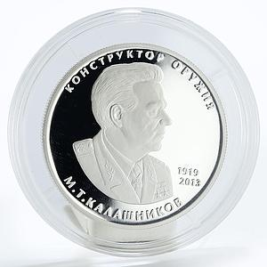 Russia 2 rubles Weapons Designer M.T. Kalashnikov proof silver coin 2019