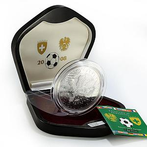 Liberia 100 dollars Soccer Europe Football proof silver coin 1 kg 2008