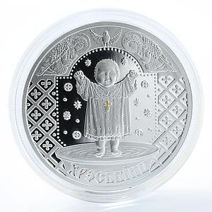 Belarus 20 Roubles Christening Slavs' family traditions Silver Coin 2009