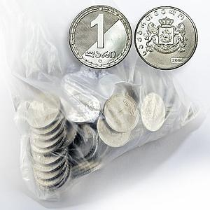 Georgia 1 lari lot of 200 coins (200 lari) UNC Coin 2006