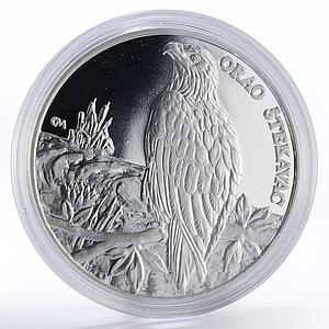 Croatia 150 kuna Baranja region White-Tailed Eagle bird proof silver coin 1997