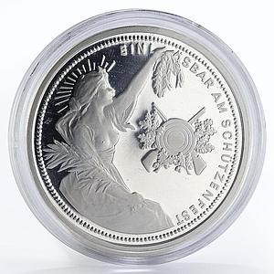 Switzerland 50 Francs Shooting Festival proof silver coin 1989