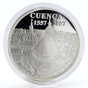 Ecuador 1 sucre Cathedral Of Cuenca proof silver coin 2007