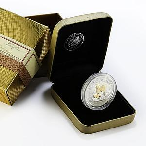 Australia, 1 Dollar, Year of the Goat gilded silver coin 1 Oz 2003