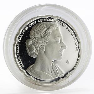 Greece 10 euro Bust of Maria Callas right proof silver coin 2007