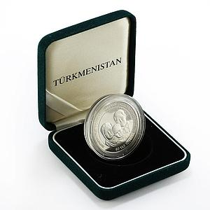 Turkmenistan 60th anniversary Niyazov's birthday silver 2000