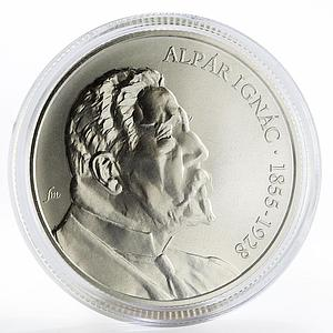 Hungary 5000 forint National Bank Ignac Alpar silver coin 2005