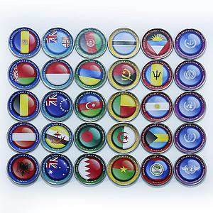 Bougainville Island 1 dollar Flags of the world and UN set of 30 coins 2017