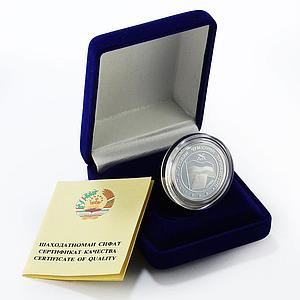 Tajikistan 5 somoni 10th Anniversary of the Constitution proof silver coin 2004
