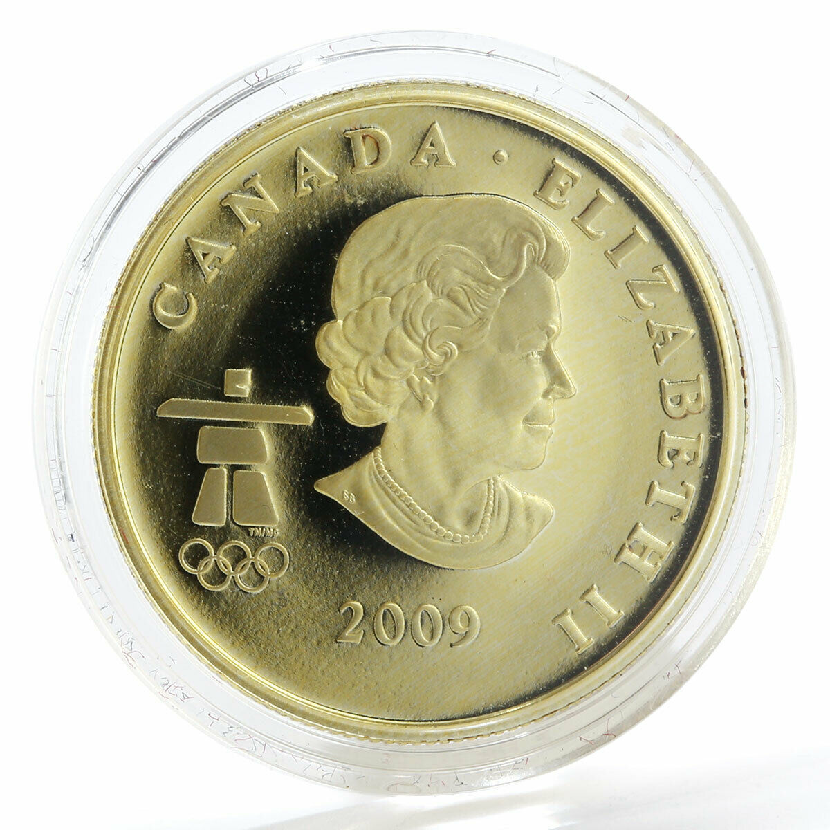 Canada 75 dollars Olympic Winter Games Vancouver 2010 wolf gold coin 2009
