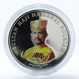 Brunei 2 dollars 20 years of Independence Hassanal Bolkiah copper-nickel 2004
