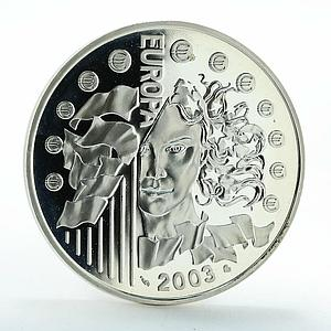 France 1 1/2 Euro Introduction of the Euro silver coin 2003