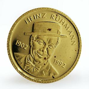 Somalia 250 shillings Heinz Ruhmann proof gold coin 2002