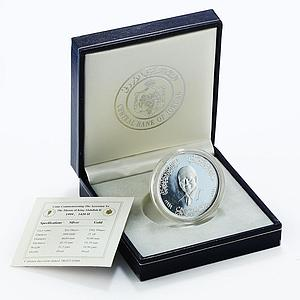 Jordan 10 dinars Accession to the Throne of King Abdullah II silver coin 1999