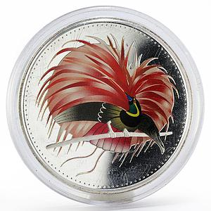 Papua New Guinea 25 kina Birds of Paradise proof silver coin 1994