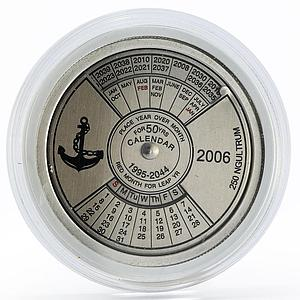 Bhutan 250 ngultrum 50 Years Calendar colored proof silver coin 2006