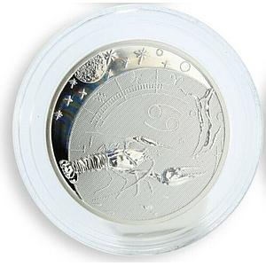 Cameroon 500 francs Zodiac - Cancer silver hologram coin 2010