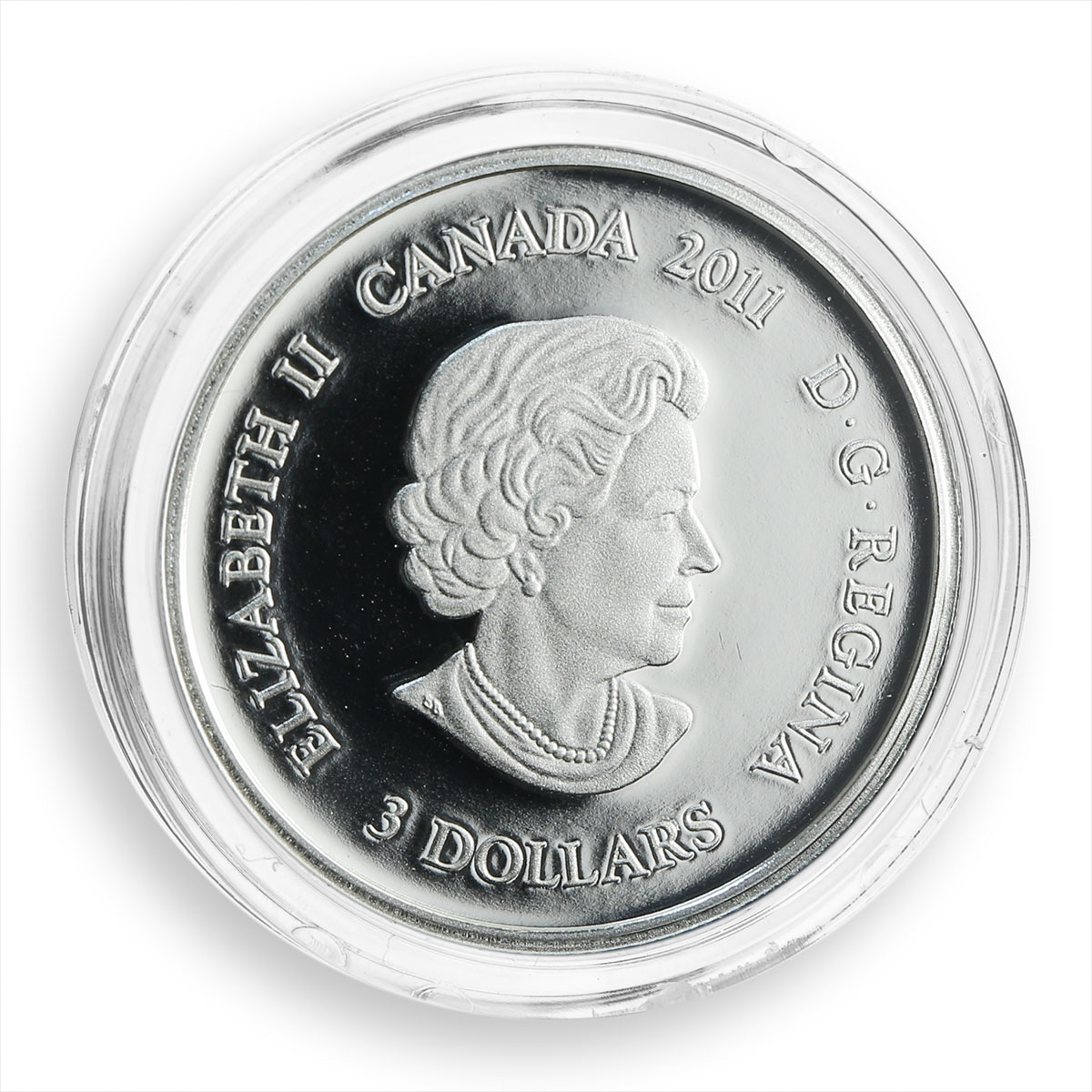 Canada, 3 dollars, Collection of Stones, Tourmaline, October, silver Proof 2011
