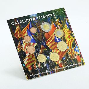 Catalonia, set of 8 coins in blister, 2014