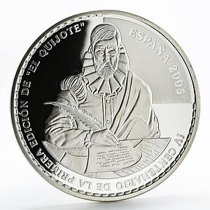 Spain 50 euro Juan Carlos I Don Quijote silver proof coin 2005