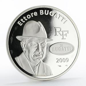 France 10 euro 100th Anniversary brand Ettore Bugatti silver proof coin 2009