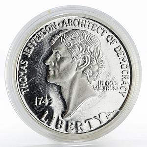 Mariana Islands 2 dollars Thomas Jefferson silver proof coin 2004