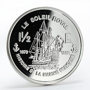 France 1 1/2 euro Le Soleil Royal Ship silver proof coin 2004
