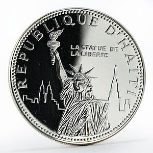Haiti 100 gourdes Statue of Liberty silver proof coin 1977