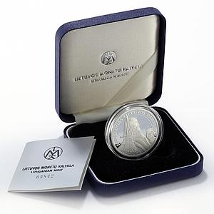 Lithuania 50 litu The King Mindaugas silver proof coin 1996