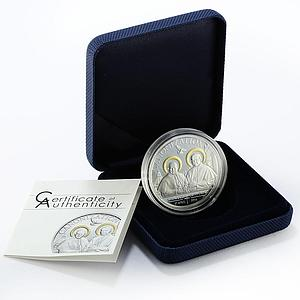 Tanzania 1000 shillings Canonization of Popes gilded silver proof coin 2014