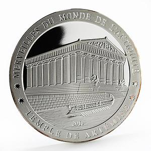 Ivory Coast 1500 francs Temple of Artemis proof silver coin 2010