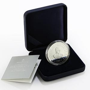 Lithuania 50 litu 150th of Gabriele Petkevicaite-Bite proof silver coin 2011