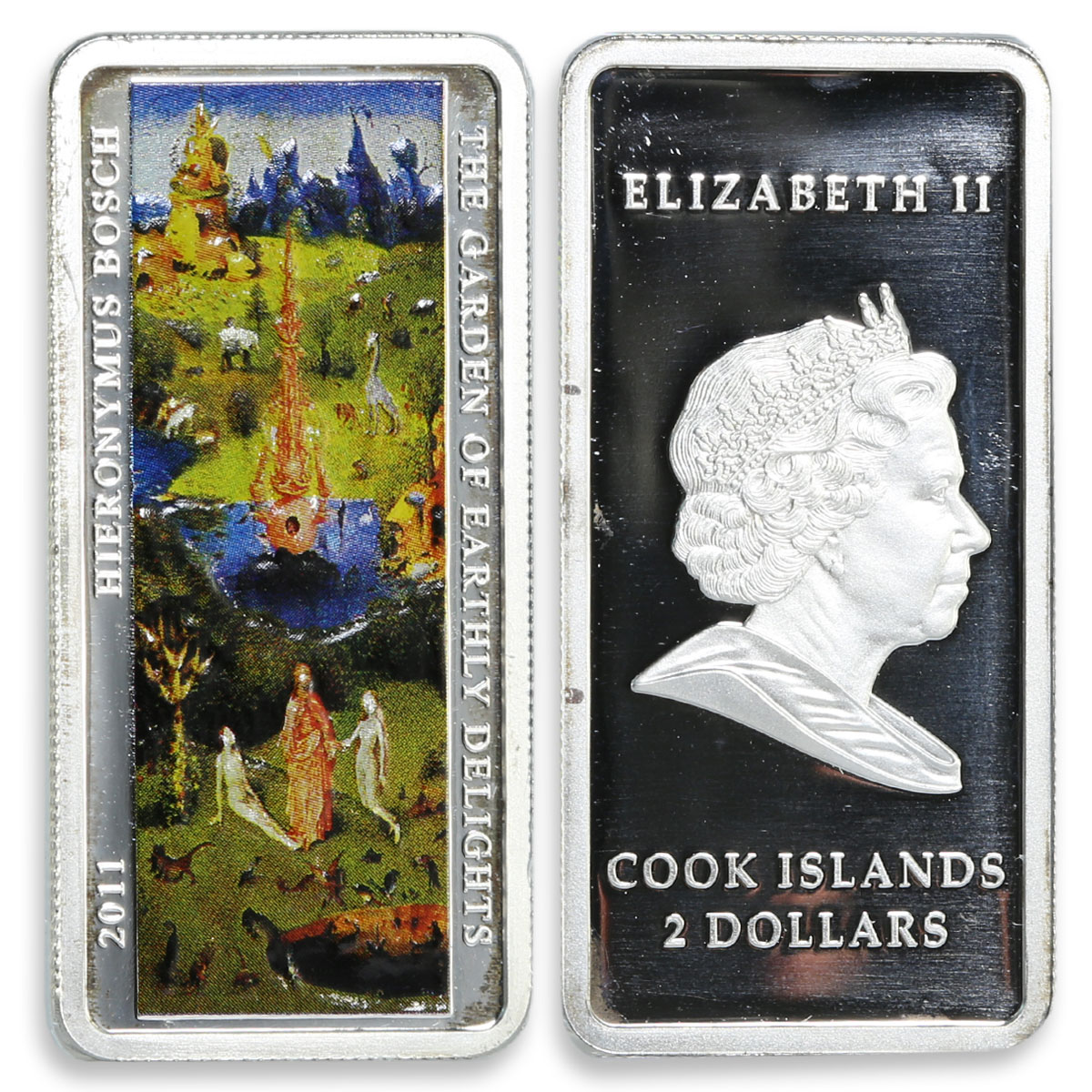 Cook Island set of 3 coins The Garden of Earthly Delights silver proof coin 2011