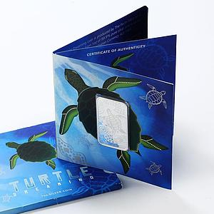 Australia 1 dollar Turtle Dreaming Series silver rectangular 1 oz coin 2008