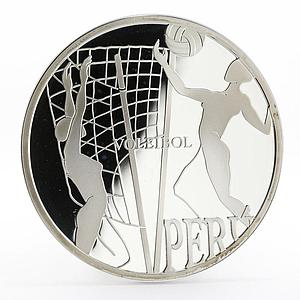 Peru 1 sol Ibero-American Series Olympic Games Voleibol silver proof coin 2007