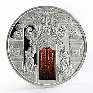 Fiji 10 dollars Temple Gates Kori Agung colored proof silver coin 2012