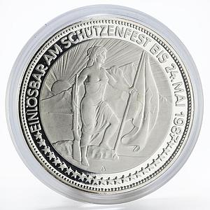 Switzerland 50 francs Glarus Shooting Festival proof silver coin 1987