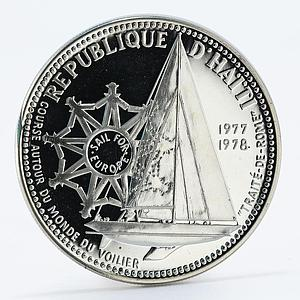 Haiti 100 gourdes 20th Anniversary of the European Market proof silver coin 1977