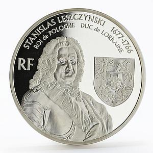 France 20 euro Stanislav Leshchinsky Monument proof silver coin 2007